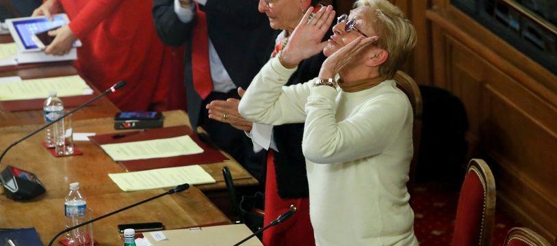 Isabelle Balkany pour son dernier conseil municipal à Levallois-Perret, le 13 février 2020.