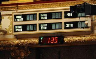 Le chronomètre de l'Assemblée nationale.