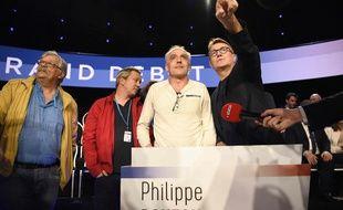 Philippe Poutou dans «Le Grand Débat» sur  BFMTV et CNews, le 4 avril 2017.