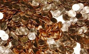 Illustration d'euros fabriqués dans l'usine pessacaise de la Monnaie de Paris.