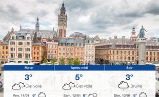 Météo Lille: Prévisions du jeudi 10 janvier 2019