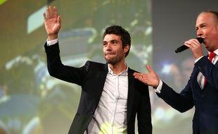 Thibaut Pinot lors de la présentation du Tour de France 2020, le 15 octobre 2019 à Paris.