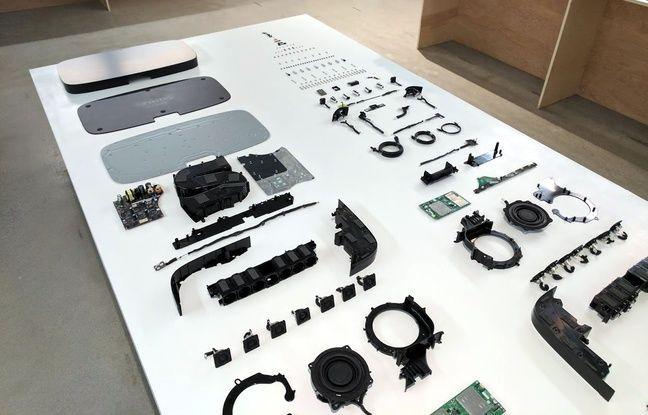 Voici tous les composants de l'enceinte Playbase de Sonos.