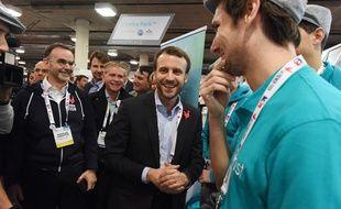 Emmanuel Macron, alors ministre de l'Economie, en déplacement au CES de Las Vegas, en janvier 2016.