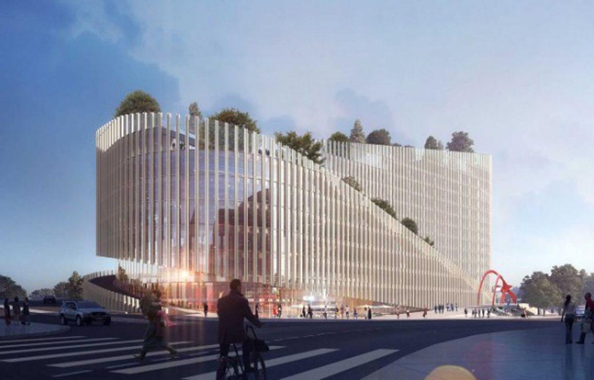 Le bâtiment ShAKE, à Euralille, vu depuis l'avenue Willy-Brandt – Agence PCA/Stream