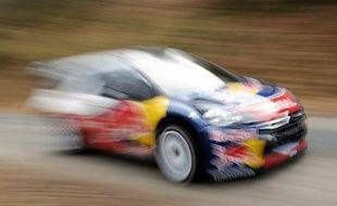 Une voiture de rallye (illustration).
