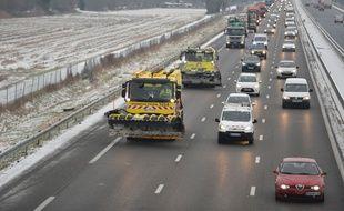 Des bouchons ont paralysé l'autoroute A9 ce jeudi 1er mars.