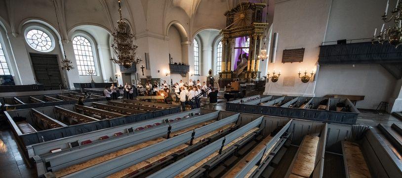 L'intérieur de l'église Catherine à Stockholm. (Illustration)