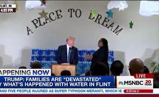 Donald Trump en déplacement dans une église afro-américaine du Michigan.