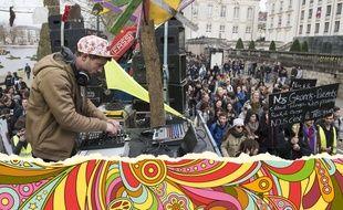Les adeptes du mouvement Rave ont manifesté le 18 mars 2017 à Nantes pour réclamer plus de liberté