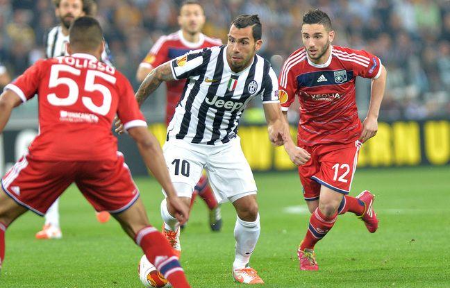 En avril 2014, Corentin Tolisso (et son improbable numéro 55) et Jordan Ferri défiaient la Juve de Carlos Tevez en quart de finale de Ligue Europa.
