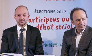 Thierry Pech, à droite, et Thierry Beaudet.