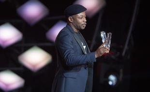 """MC Solaar a remporté la Victoire de la Musique de l'album de chansons de l'année pour """"Géopoétique"""", lors des 33ème Victoires de la musique le 9 février."""
