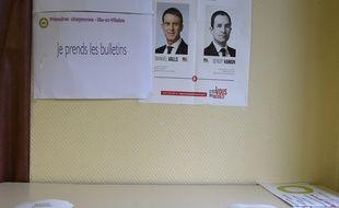 Un bureau de vote du second tour de la primaire de gauche, 29/01/17.
