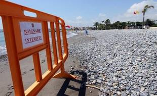 Illustration d'une plage fermée.