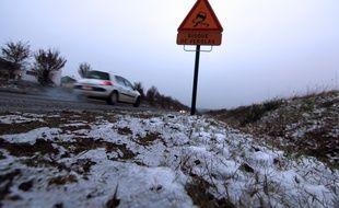 Illustration de neige, ici début 2015 près de Rennes.