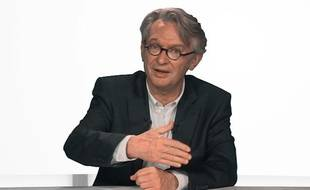 Jean-Claude Mailly, secrétaire général de Froce ouvrière, le 26 avril 2012, dans le studio de 20 Minutes.