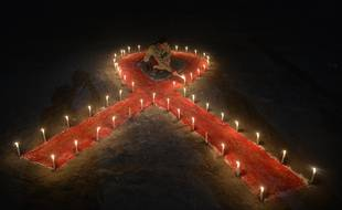 Illustration de la lutte contre le sida.