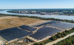 La centrale solaire de Labarde est en cours de réalisation à Bordeaux et sera achevée fin 2021