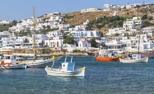 Un vieux port sur l'île de Mykonos, le 27 août 2020.