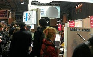 Le Salon de l'emploi public a attiré une affluence record jeudi à Paris.