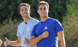 Pierre-Louis et Arnaud, lors de l'étape 5 de Pékin Express.