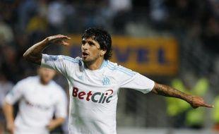 Le milieu de terrain de l'OM, Lucho Gonzalez, lors d'un match contre Sochaux, le 25 septembre 2010 à Marseille.