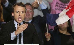 Emmanuel Macron, en meeting à Arras, le 26 avril 2017.