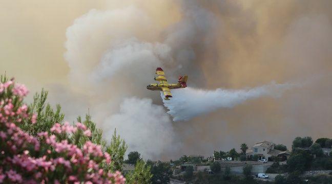 L'incendie s'était déclarée dans une zone escarpée (illustration) – AFP PHOTO / VALERY HACHE