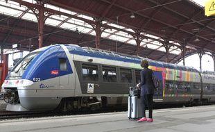 TER en gare de Strasbourg. (illustration)