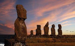 Impossible de se rendre sur l'île de Pâques sans aller saluer ses géants protecteurs et bienveillants !