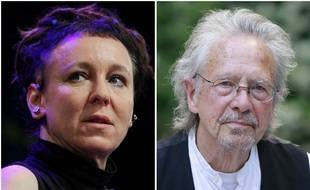 Olga Tokarczuk et Peter Handke, les deux lauréats du Prix Nobel de littérature, respectivement pour 2018 et 2019