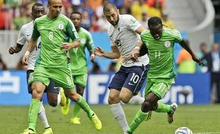 Karim Benzema face au Nigeria, le 30 juin 2014