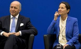 Laurent Fabius et Ségolène Royal le 5 novembre 2014 à Paris