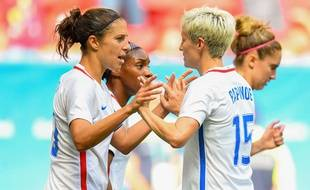 Les Américaines fêtent un but lors des JO de Rio.