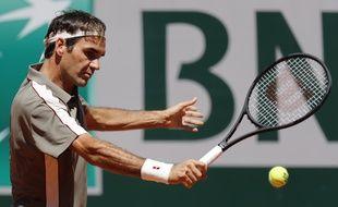 Roger Federer à Roland-Garros, contre Mayer, le 2 juin 2019.