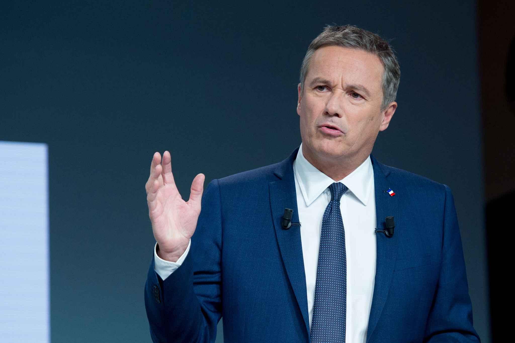 Présidentielle : pas invité à un débat, Nicolas Dupont-Aignan menace TF1