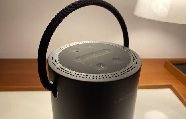 Le panneau de contrôle de la Portable Speaker de Bose.