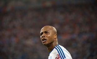 Le milieu de l'OM André Ayew lors du match entre Marseille et Saint-Etienne le 28 septembre 2014.