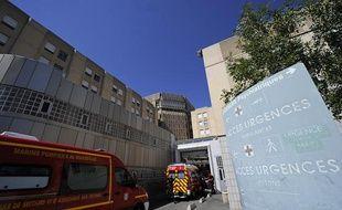 Illustration de l'entrée des urgences de l'hôpital Conception à Marseille, le 20 août 2013.