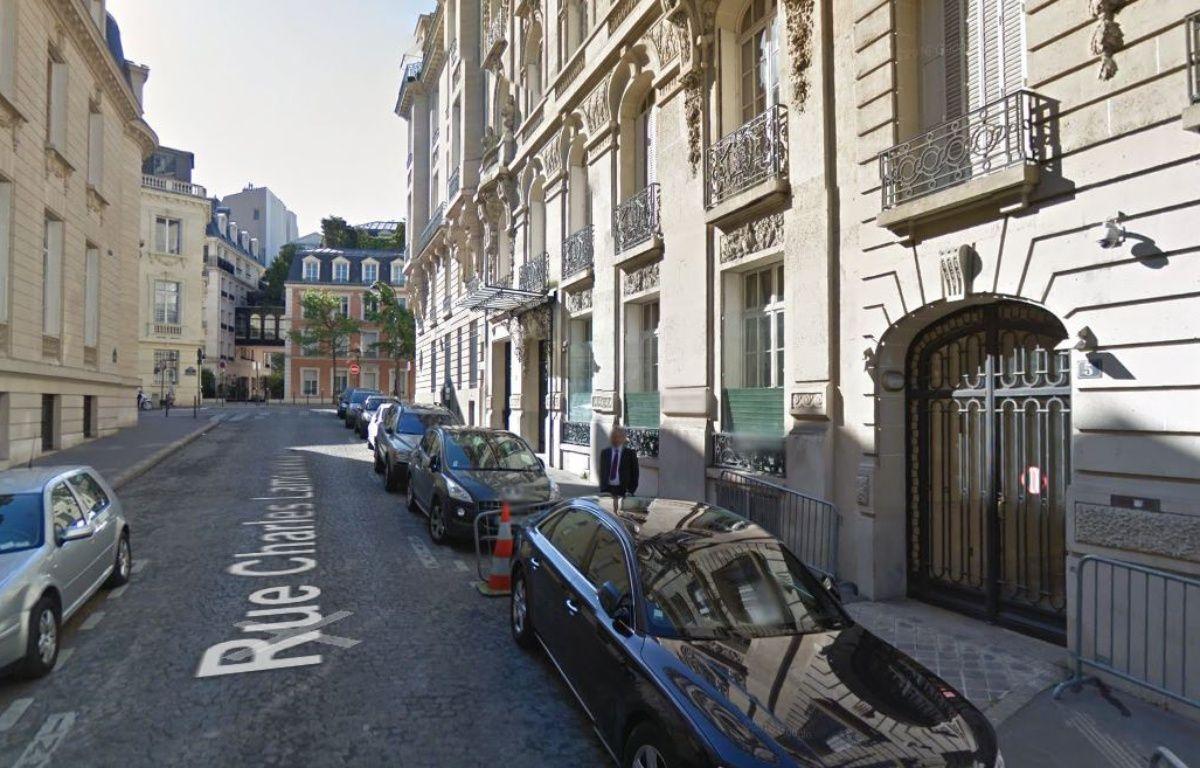 La rue Charles-Lamoureux, dans le 16e arrondissement de paris. – Google Maps