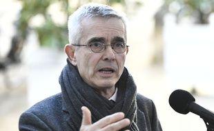 Yves Veyrier, secrétaire général de Force Ouvrière, devant l'Elysée le 13 février 2020.