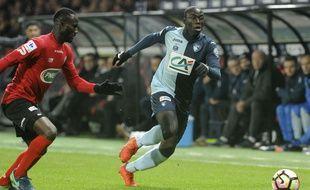 Ferland Mendy, ici en janvier lors d'un 32e de finale de Coupe de France contre Guingamp.