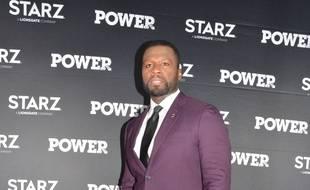Le rappeur 50 Cent à la première de sa série,