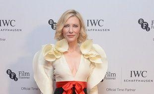 L'actrice Cate Blanchett au dîner de gala du British Film Institute en 2016 à Londres