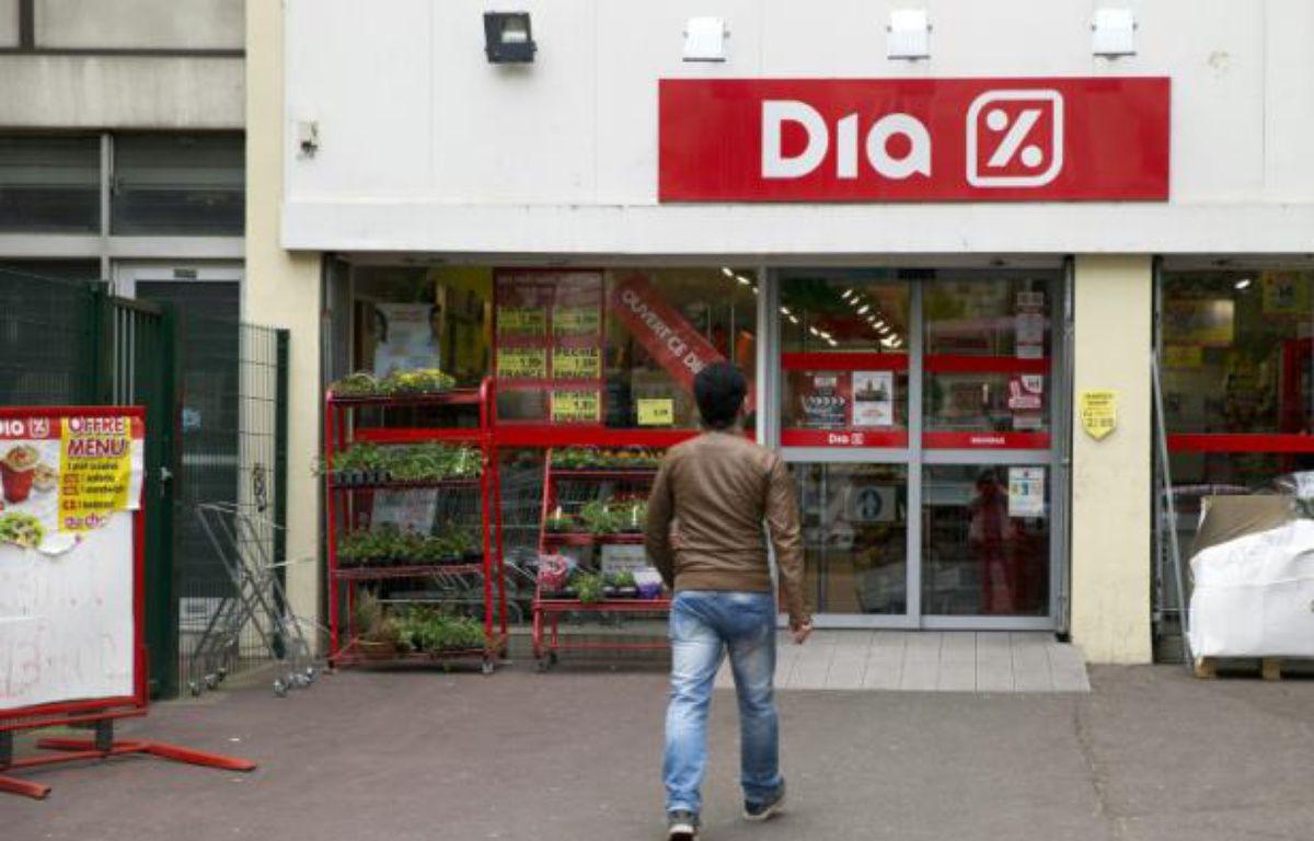 Un supermarché Dia, le 8 mai 2014 à Paris – JOEL SAGET AFP