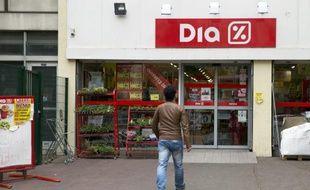 Un supermarché Dia, le 8 mai 2014 à Paris