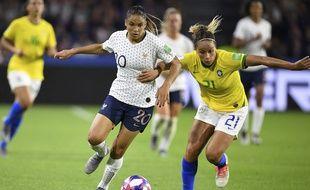 Delphine Cascarino est entrée en jeu en fin de rencontre lors du huitième de finale contre le Brésil (2-1).