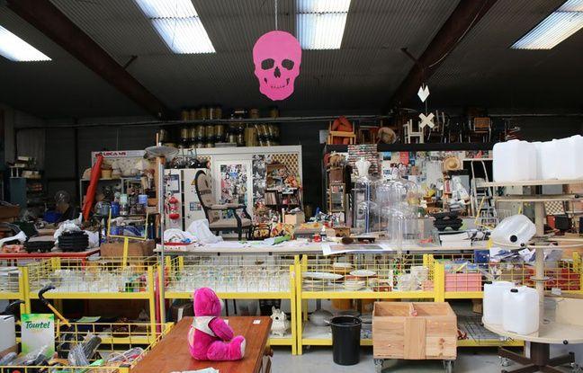 La plateforme principale de l'Atelier d'éco solidaire, où l'on trouve tous types d'objets