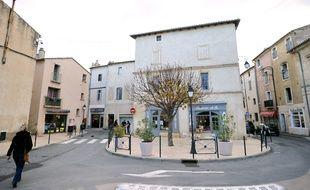 Le centre-ville de Lunel (Hérault) le 27 janvier 2015.